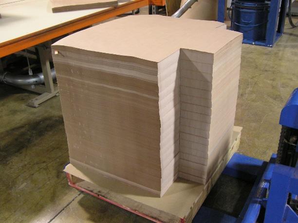 Custom cut paper for automobile glass