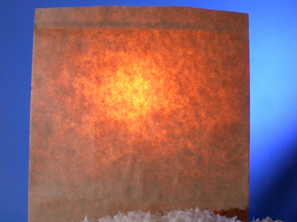 Flame resistant paper used in luminary bag