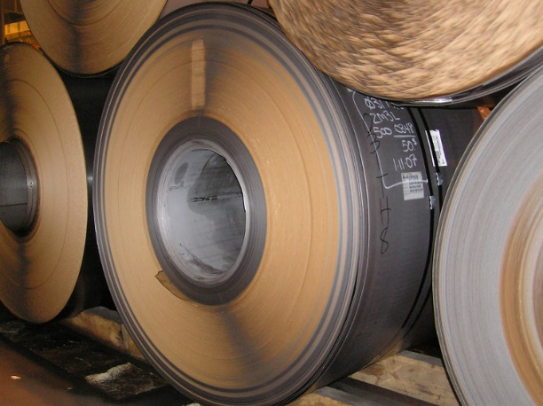 Steel rolls with interleaving paper