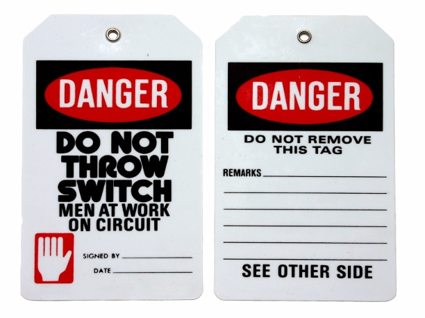 lock out tag out paper